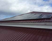 Lopez Island Community Solar array
