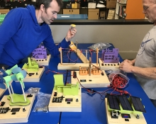 Educators experiment with power grid model